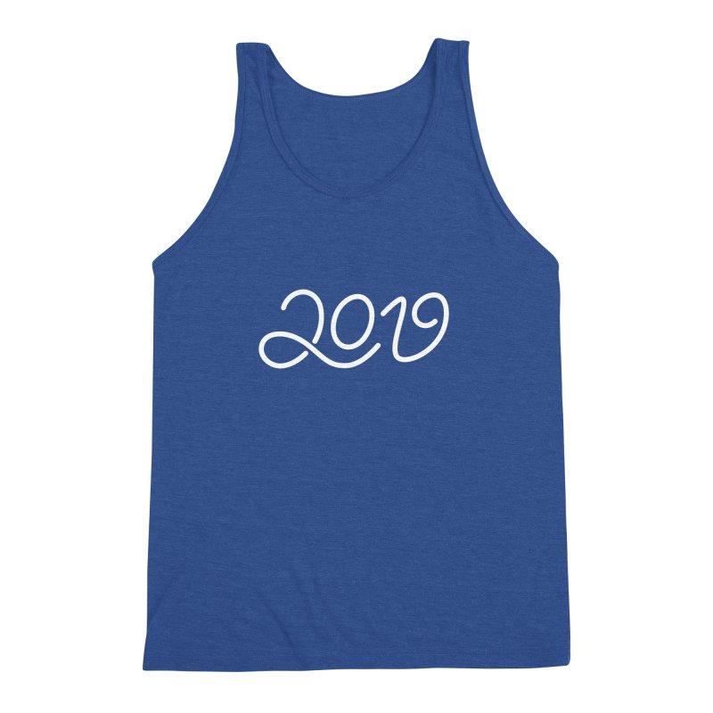 Happy New Year 2019 T-shirt LOV T-shirt Men's Triblend Tank by MadeByBono