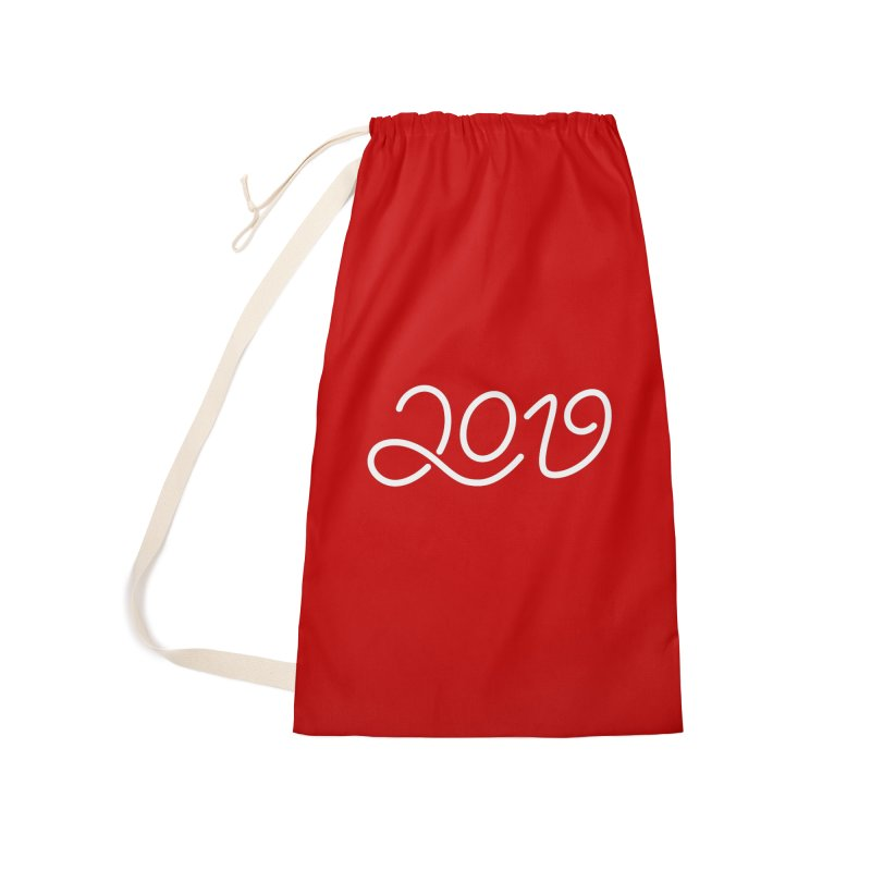 Happy New Year 2019 T-shirt LOV T-shirt Accessories Laundry Bag Bag by MadeByBono