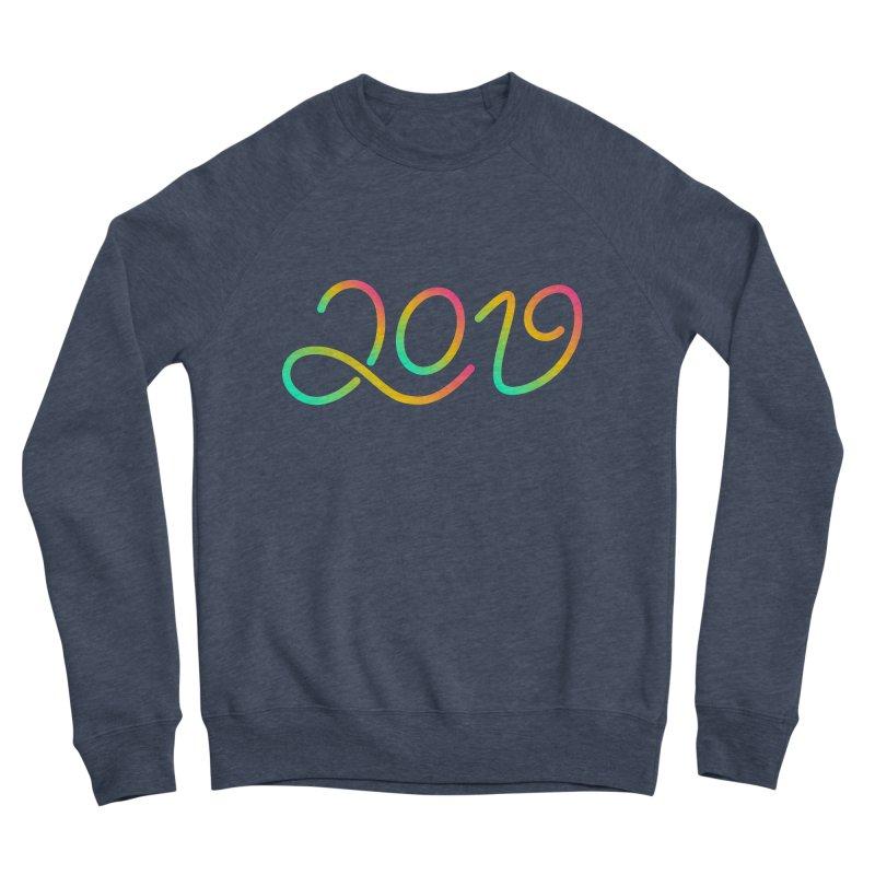 Happy New Year 2019 T-shirt LOV T-shirt Women's Sponge Fleece Sweatshirt by MadeByBono