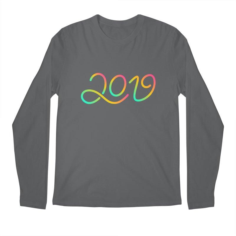 Happy New Year 2019 T-shirt LOV T-shirt Men's Regular Longsleeve T-Shirt by MadeByBono