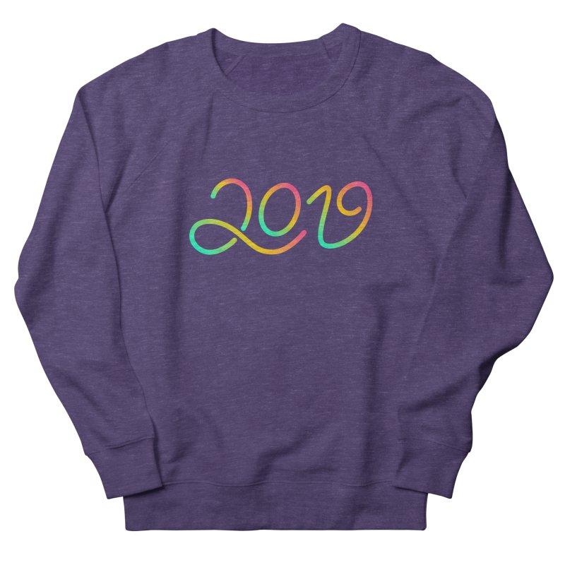 Happy New Year 2019 T-shirt LOV T-shirt Men's French Terry Sweatshirt by MadeByBono