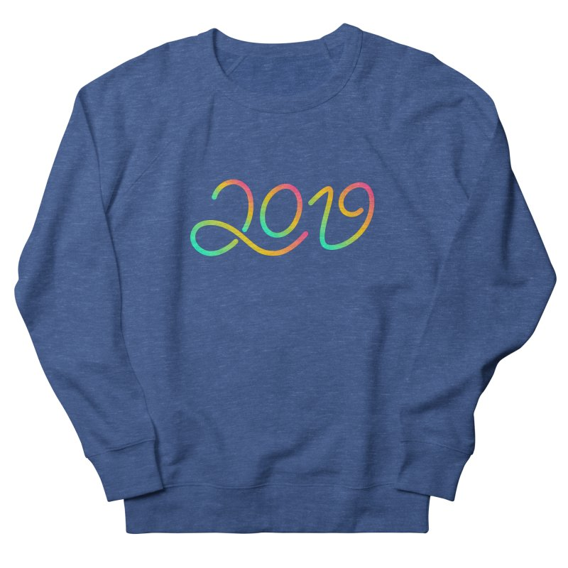 Happy New Year 2019 T-shirt LOV T-shirt Men's French Terry Sweatshirt by MadeByBono