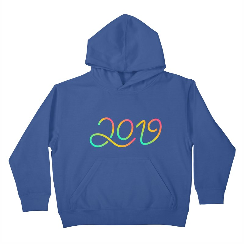 Happy New Year 2019 T-shirt LOV T-shirt Kids Pullover Hoody by MadeByBono