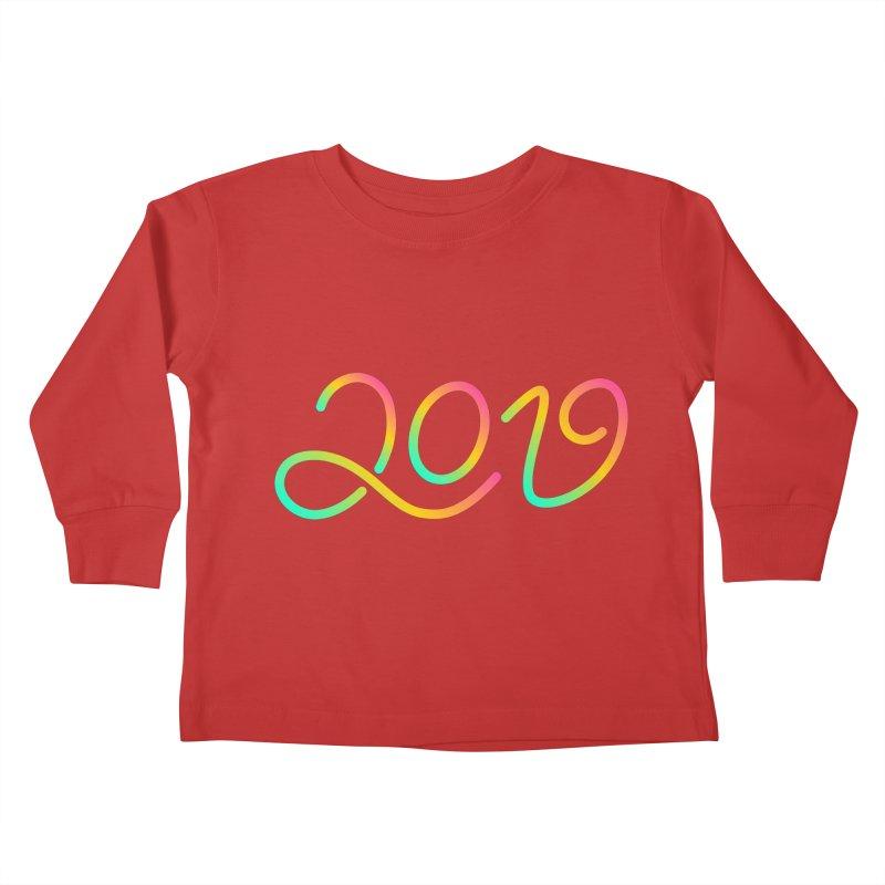Happy New Year 2019 T-shirt LOV T-shirt Kids Toddler Longsleeve T-Shirt by MadeByBono
