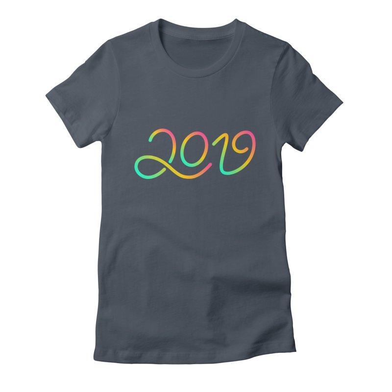 Happy New Year 2019 T-shirt LOV T-shirt Women's T-Shirt by MadeByBono