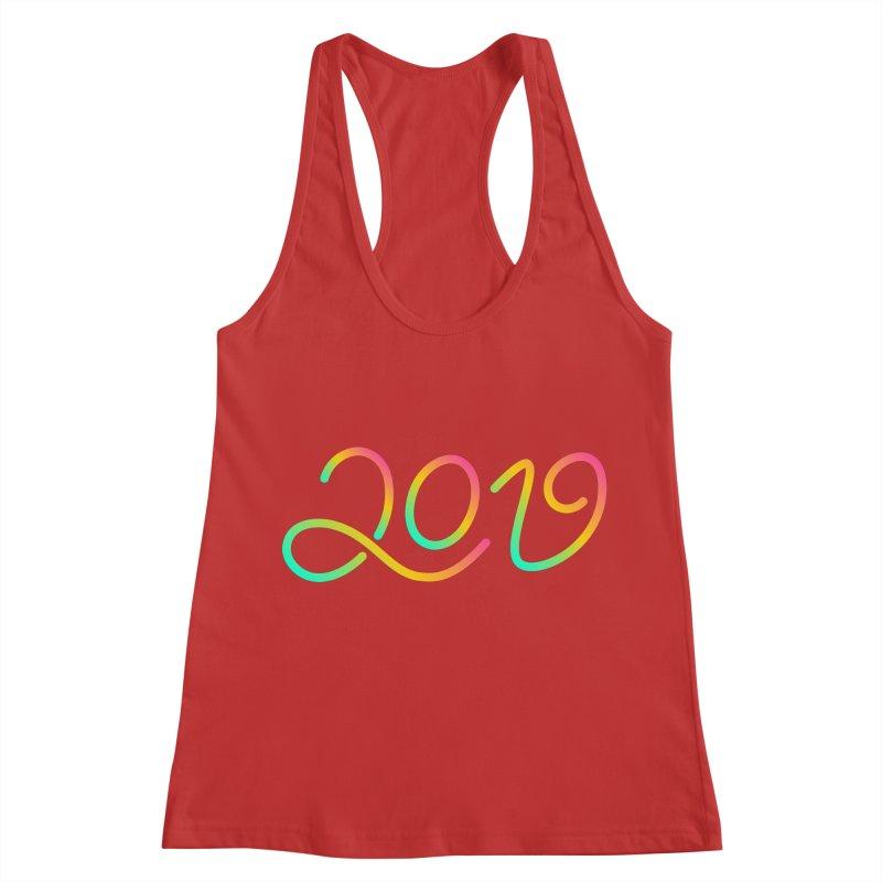 Happy New Year 2019 T-shirt LOV T-shirt Women's Racerback Tank by MadeByBono