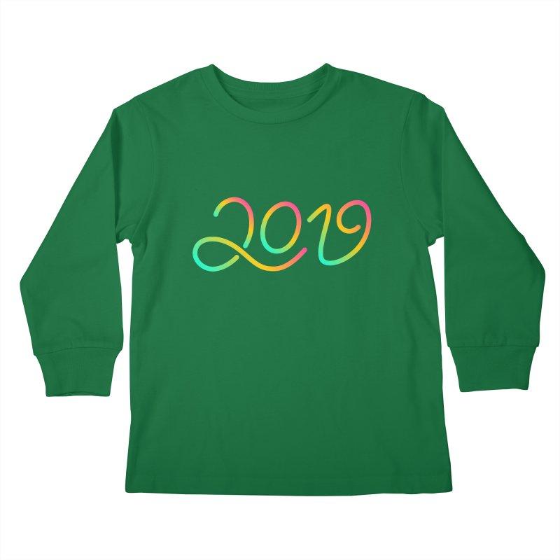 Happy New Year 2019 T-shirt LOV T-shirt Kids Longsleeve T-Shirt by MadeByBono