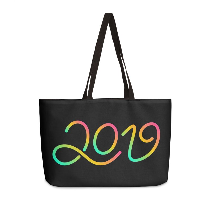 Happy New Year 2019 T-shirt LOV T-shirt Accessories Weekender Bag Bag by MadeByBono