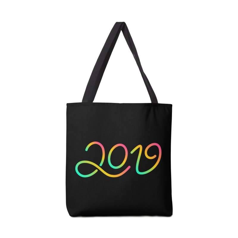 Happy New Year 2019 T-shirt LOV T-shirt Accessories Tote Bag Bag by MadeByBono