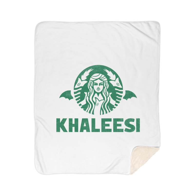 Cup of Khaleesi Home Sherpa Blanket Blanket by Made With Awesome