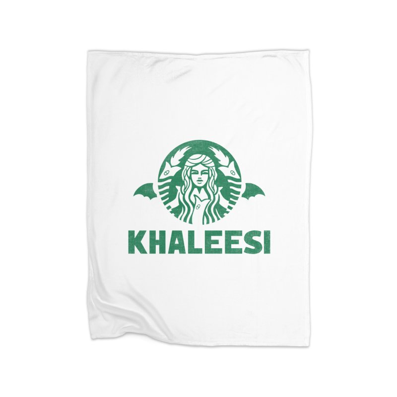 Cup of Khaleesi Home Fleece Blanket Blanket by Made With Awesome