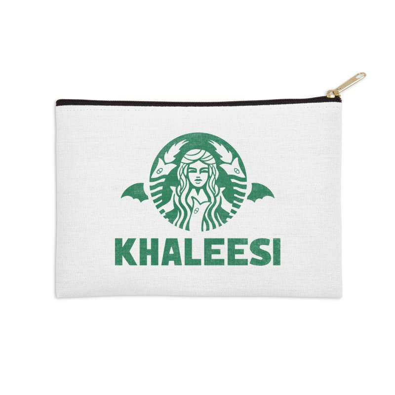 Cup of Khaleesi Accessories Zip Pouch by Made With Awesome