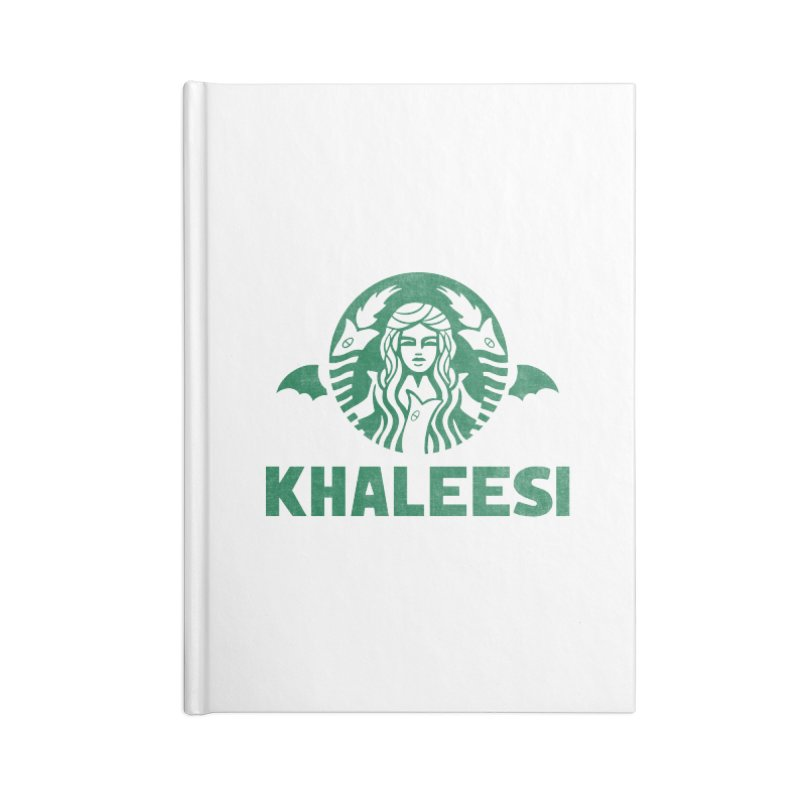 Cup of Khaleesi Accessories Blank Journal Notebook by Made With Awesome