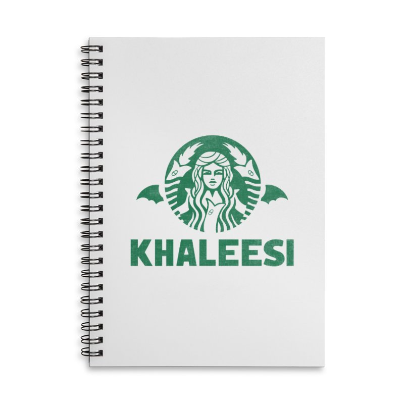 Cup of Khaleesi Accessories Lined Spiral Notebook by Made With Awesome