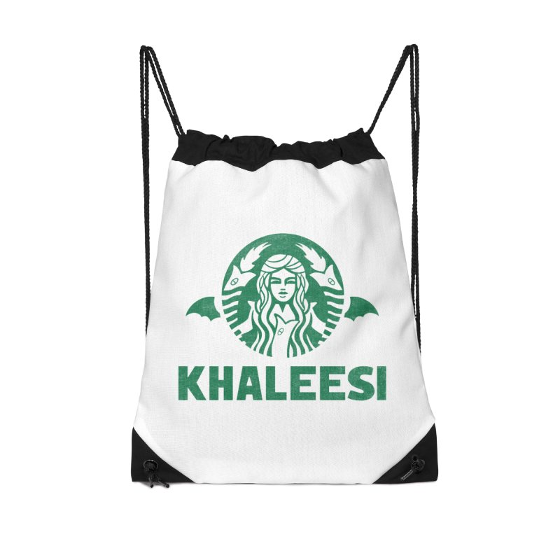 Cup of Khaleesi Accessories Drawstring Bag Bag by Made With Awesome
