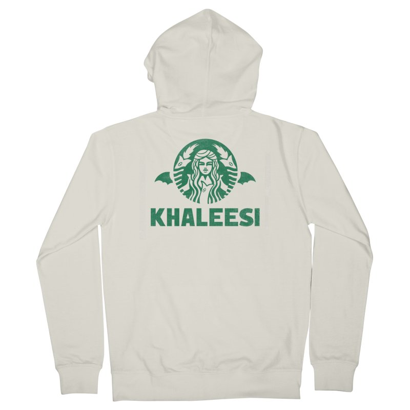 Cup of Khaleesi Men's French Terry Zip-Up Hoody by Made With Awesome