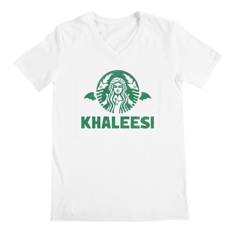 Cup of Khaleesi Men's Regular V-Neck by Made With Awesome