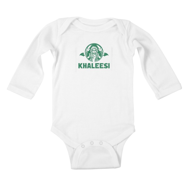 Cup of Khaleesi Kids Baby Longsleeve Bodysuit by Made With Awesome