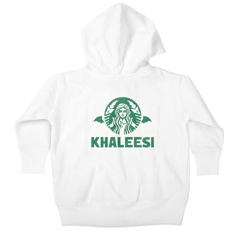Cup of Khaleesi Kids Baby Zip-Up Hoody by Made With Awesome