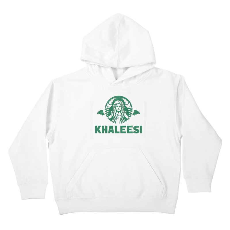 Cup of Khaleesi Kids Pullover Hoody by Made With Awesome