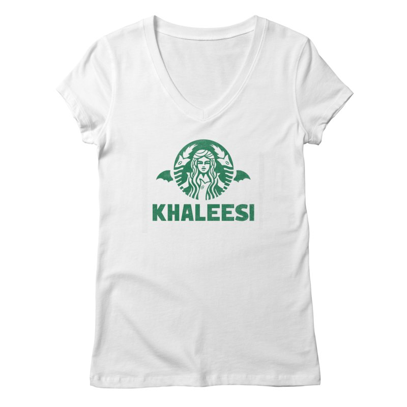 Cup of Khaleesi Women's Regular V-Neck by Made With Awesome