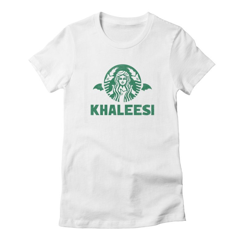 Cup of Khaleesi Women's Fitted T-Shirt by Made With Awesome