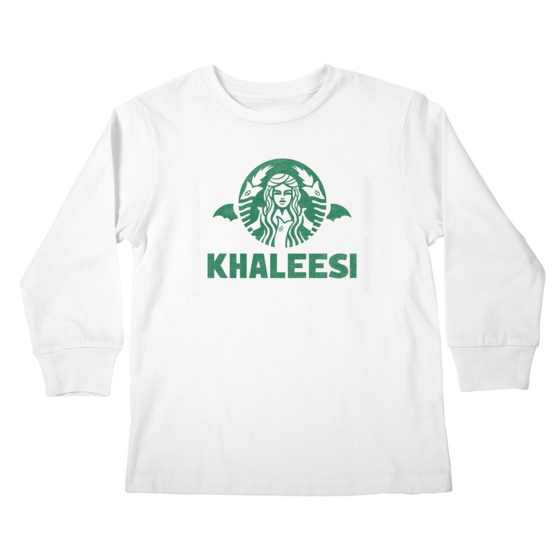 Cup of Khaleesi Kids Longsleeve T-Shirt by Made With Awesome