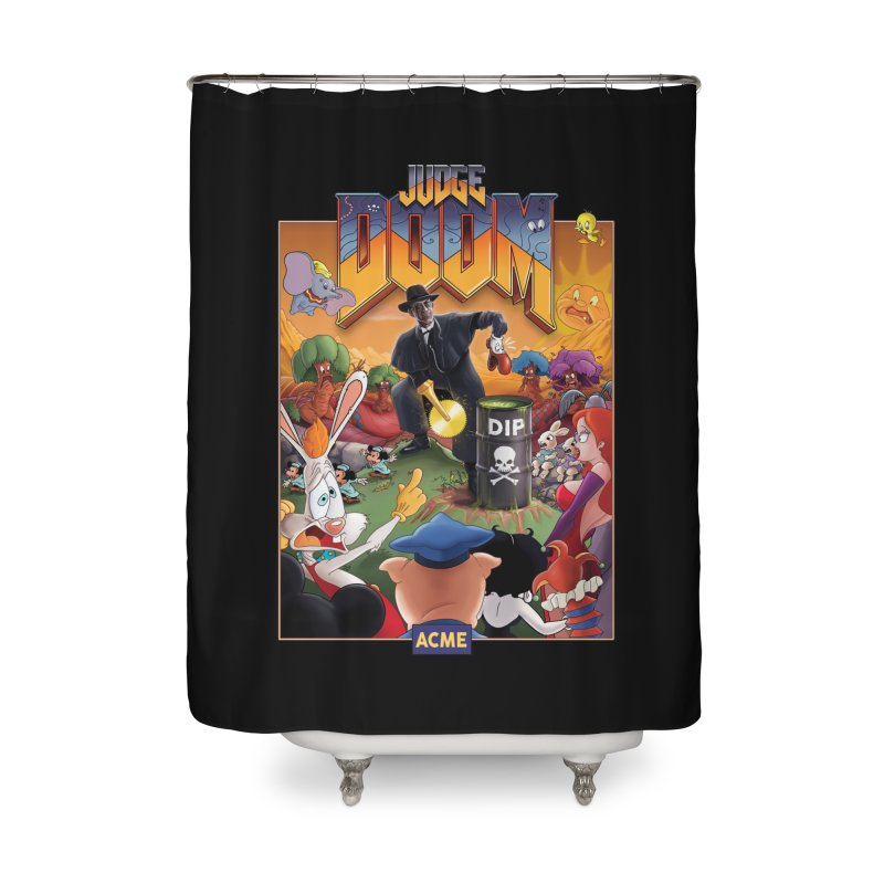 Judge DOOM Home Shower Curtain by Made With Awesome