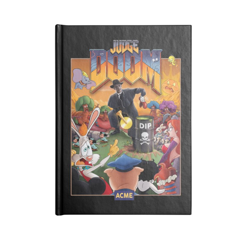 Judge DOOM Accessories Lined Journal Notebook by Made With Awesome