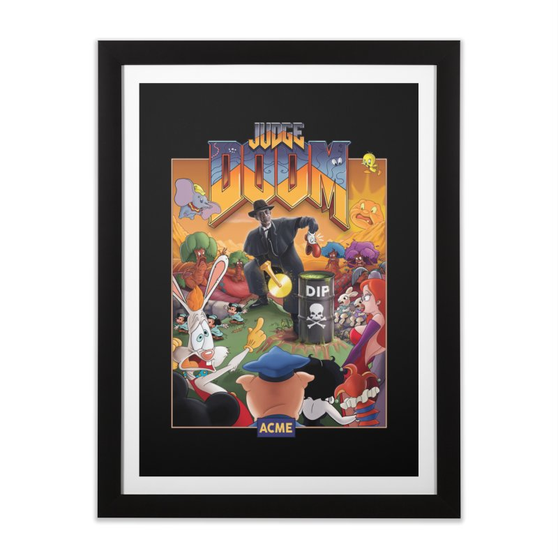 Judge DOOM Home Framed Fine Art Print by Made With Awesome