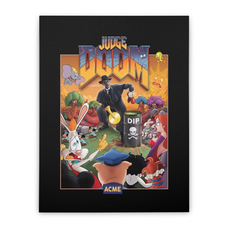 Judge DOOM Home Stretched Canvas by Made With Awesome