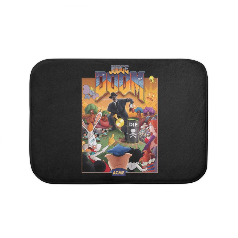 Judge DOOM Home Bath Mat by Made With Awesome