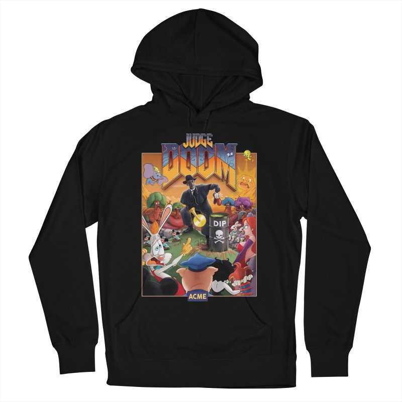Judge DOOM Men's French Terry Pullover Hoody by Made With Awesome
