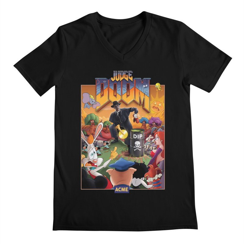 Judge DOOM Men's Regular V-Neck by Made With Awesome