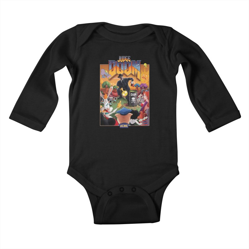 Judge DOOM Kids Baby Longsleeve Bodysuit by Made With Awesome