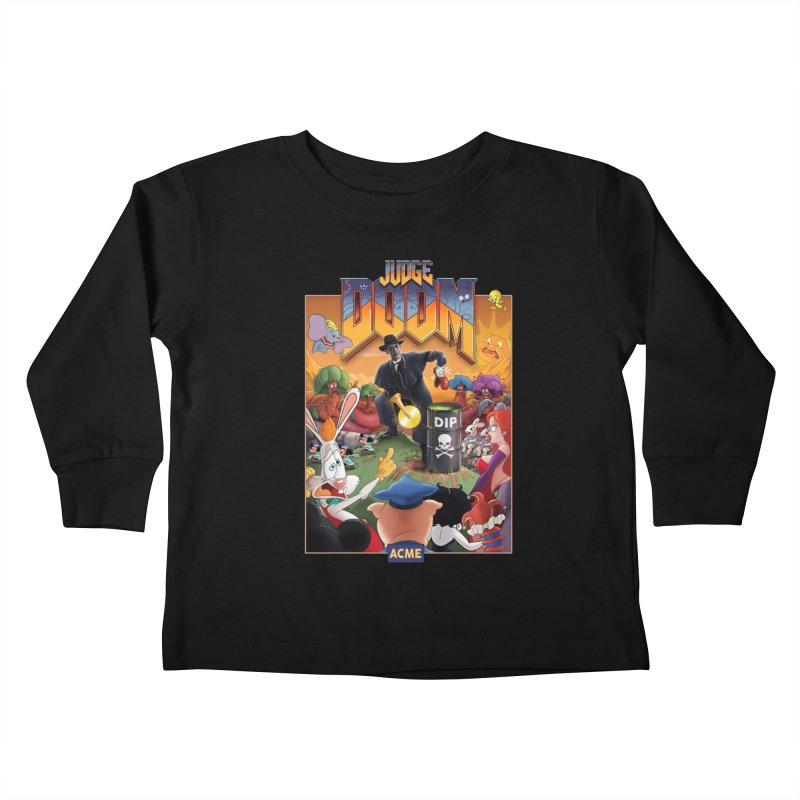 Judge DOOM Kids Toddler Longsleeve T-Shirt by Made With Awesome