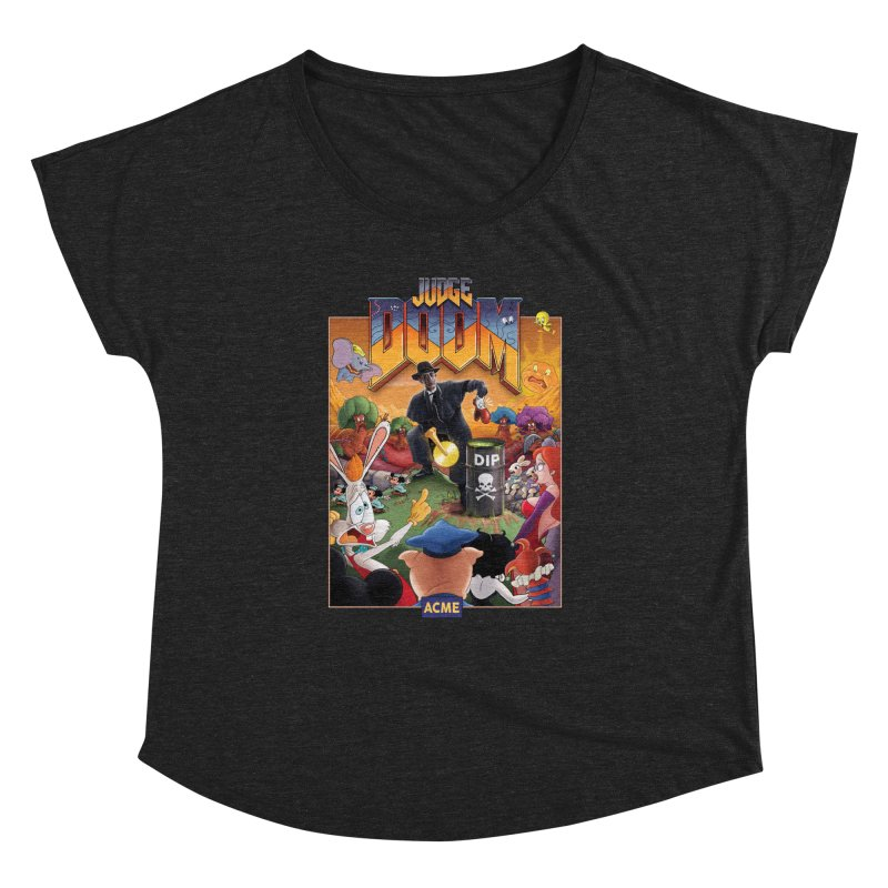 Judge DOOM Women's Dolman Scoop Neck by Made With Awesome