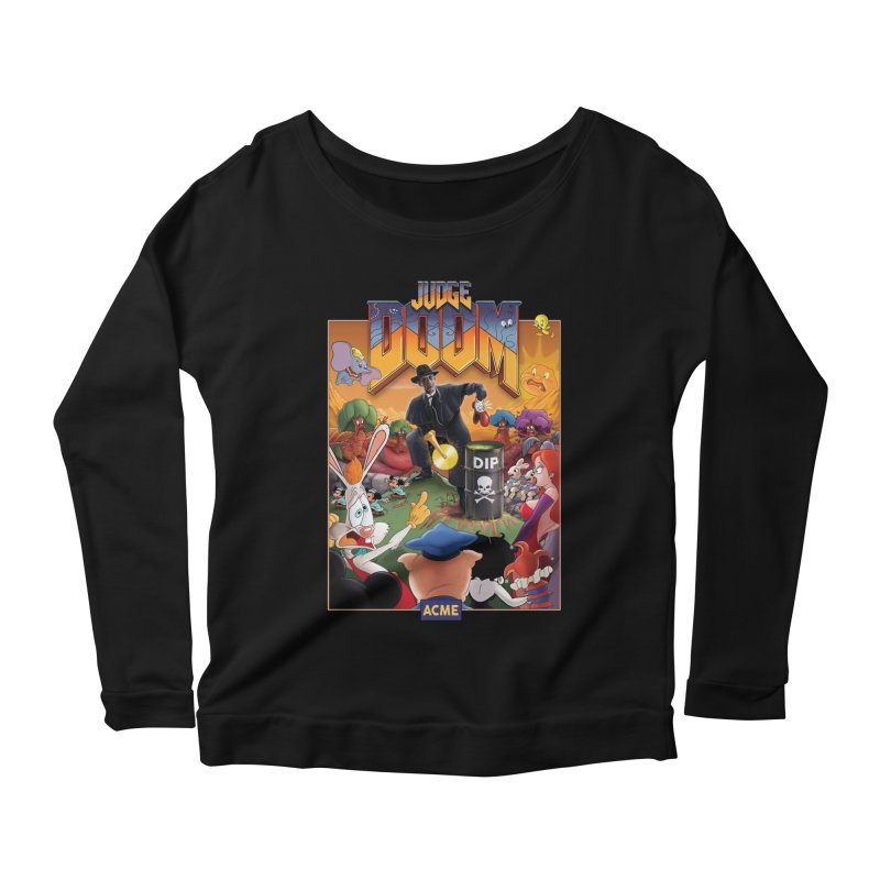 Judge DOOM Women's Scoop Neck Longsleeve T-Shirt by Made With Awesome