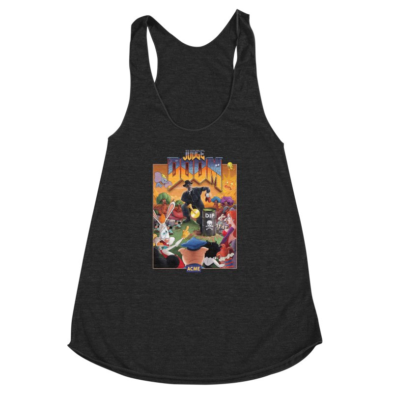 Judge DOOM Women's Racerback Triblend Tank by Made With Awesome