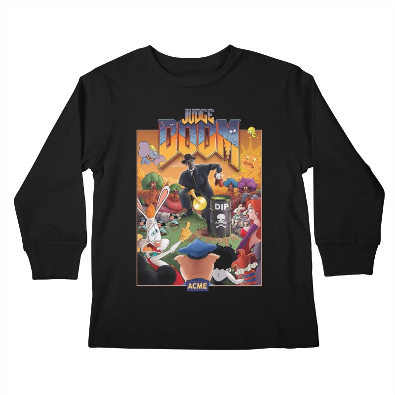 Judge DOOM Kids Longsleeve T-Shirt by Made With Awesome
