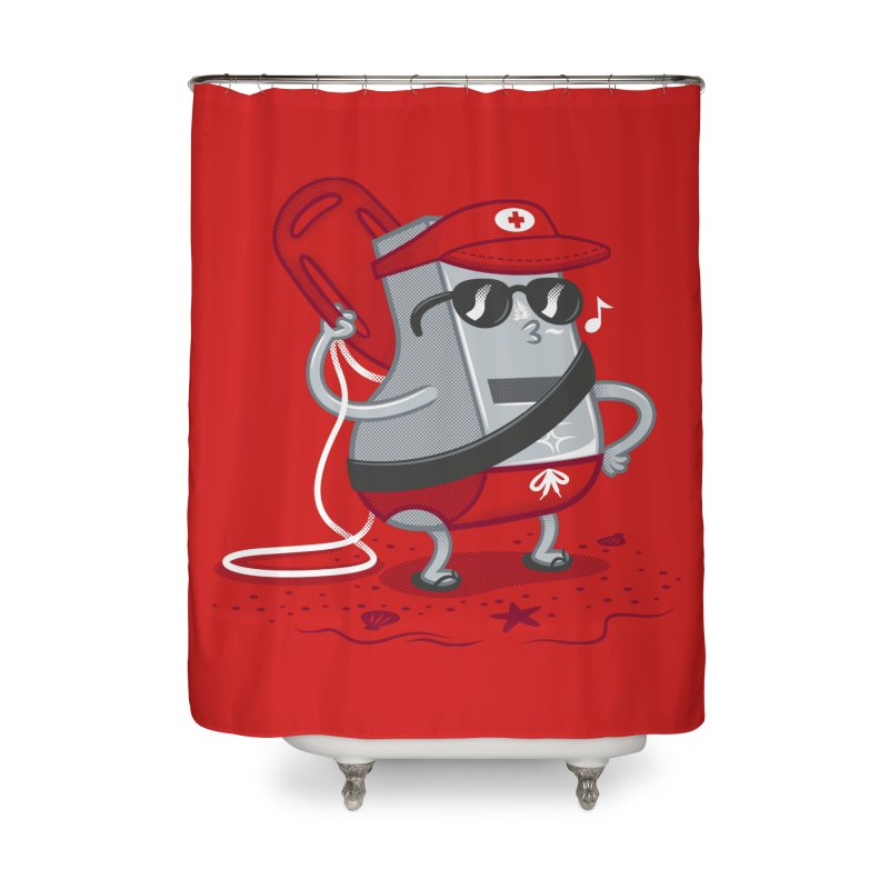 Whistle While You Work Home Shower Curtain by Made With Awesome