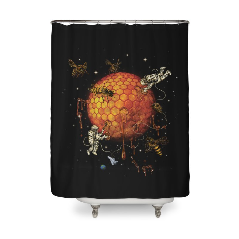 Honey Moon Home Shower Curtain by Made With Awesome