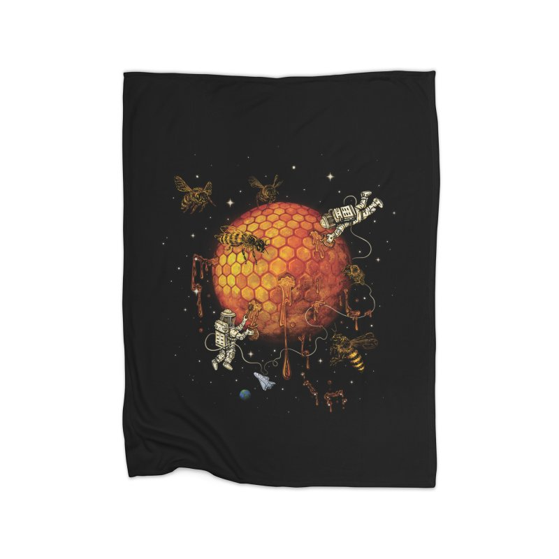 Honey Moon Home Fleece Blanket Blanket by Made With Awesome