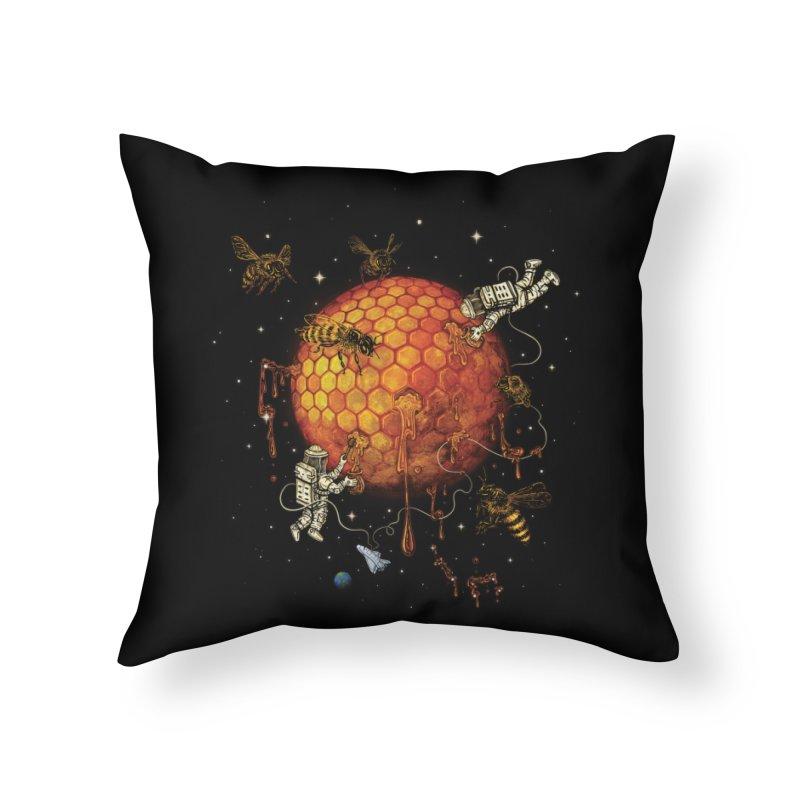 Honey Moon Home Throw Pillow by Made With Awesome