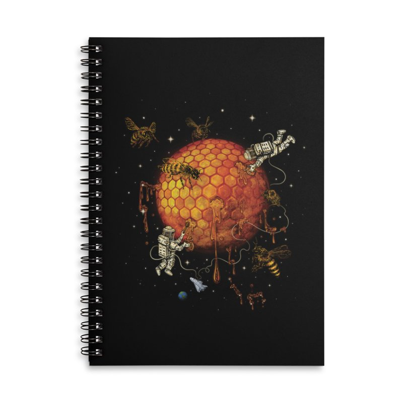 Honey Moon Accessories Lined Spiral Notebook by Made With Awesome