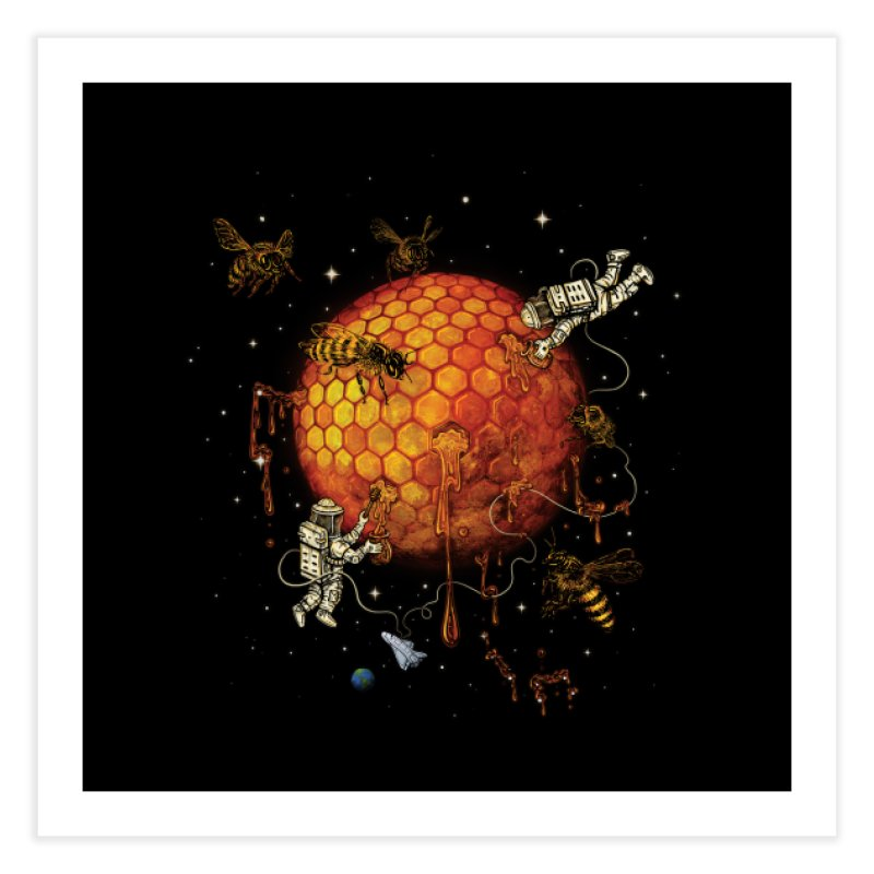 Honey Moon Home Fine Art Print by Made With Awesome