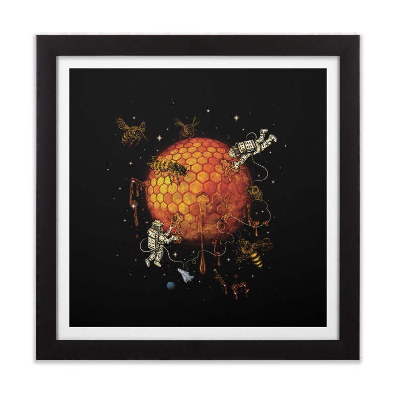 Honey Moon Home Framed Fine Art Print by Made With Awesome