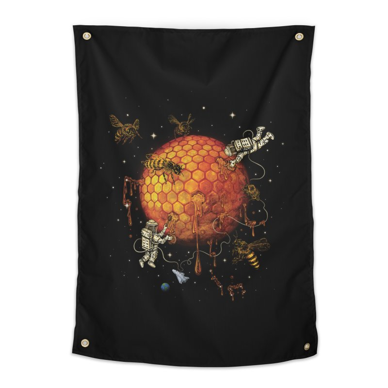 Honey Moon Home Tapestry by Made With Awesome