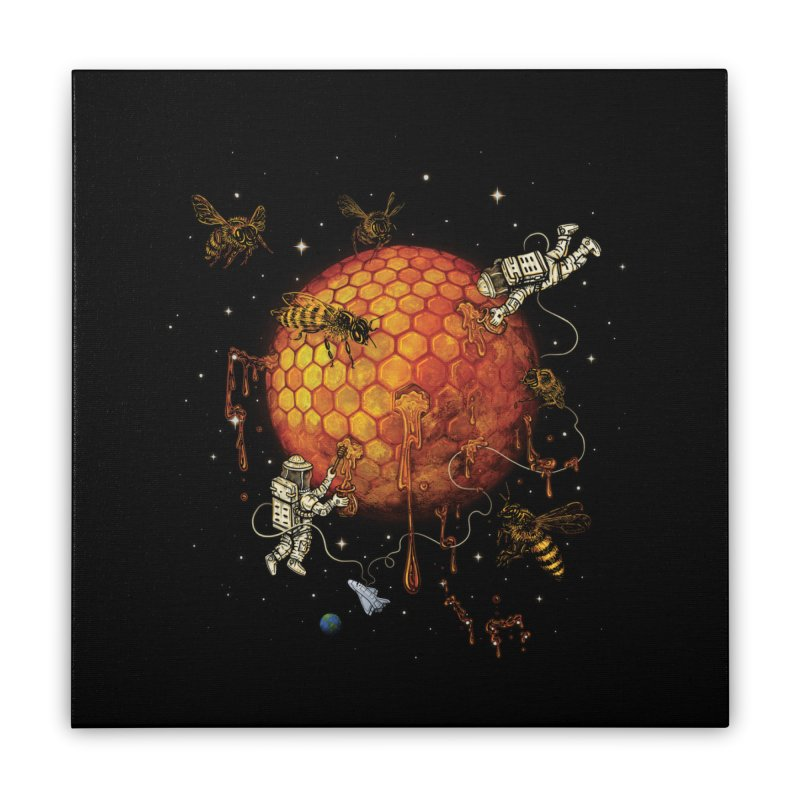 Honey Moon Home Stretched Canvas by Made With Awesome