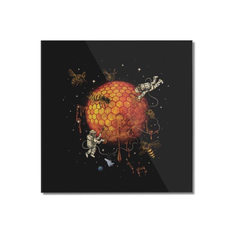 Honey Moon Home Mounted Acrylic Print by Made With Awesome